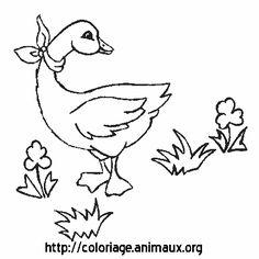 OIE ET FOULARD : COLORIAGE OIE ET FOULARD sur COLORIAGE ANIMAUX .org