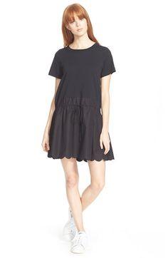 SEE BY CHLOÉ Scallop Hem Shirtdress. #seebychloé #cloth #