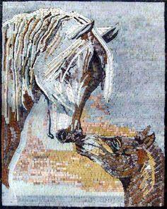 Mosaic Mural - Marble Horses