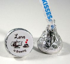 Love is Brewing Hershey Kiss Stickers Bridal by PrettyPaperCottage