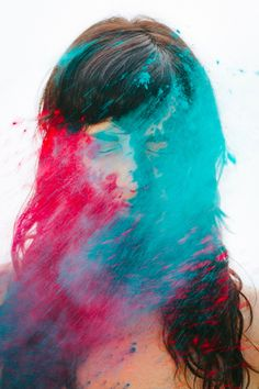 Michelle Alexis Newman // holi powder portraits by Adrienne Pitts