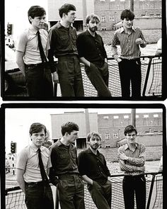 Joy Division outside Strawberry Studios in Stockport England 📷Kevin Cummins Joy Division, Natalie Curtis, Ian Curtis, Good Music, My Music, Rock N Roll, Charming Man, The Dj, Punk Goth