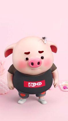 Happy Birthday Pig, Pig Illustration, Cute Pigs, Little Pigs, Hello Kitty, Cartoon, Chris Evans, Creative, Funny