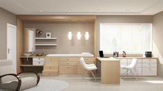 Consultório Planejado. Transforme seu ambiente de trabalho em um ambiente aconchegante e receptivo! http://www.moradamoveis.com/