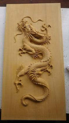 Embedded Wood Carving Designs, Wood Carving Art, Wood Art, Wood Carving Patterns, Japanese Dragon, Chinese Dragon, Chinese Art, Japanese Tattoo Art, Japanese Art