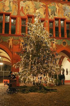 Christmas tree at Town Hall,  Basel, Switzerland Copyright: Robi rdfoto