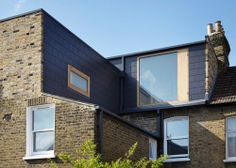 Studio Octopi adds plywood-lined loft extension to house in London Loft Conversion Victorian Terrace, Terraced House Loft Conversion, Dormer Loft Conversion, Loft Conversions, House Extension Design, Roof Extension, Extension Ideas, Extension Google, House Design