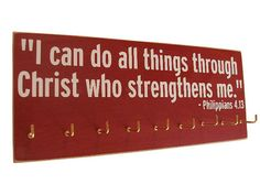 inspirational sports quotes / Running Medals display Rack. $28.00, via Etsy.