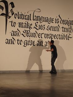 Political language is designed to make lies sound truthful and murder respectable... lettering by luca barcellona :D love it!