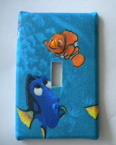Disney Pixar Finding Nemo Light Switch Plate Single Handmade Cover. $6.79, via Etsy.
