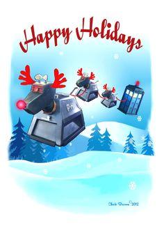 Doctor Who Christmas Cards Tardis Christmas by RaygunsandRobots ...