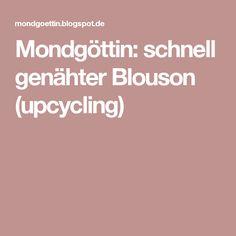 Mondgöttin: schnell genähter Blouson (upcycling)