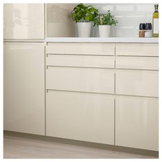 VOXTORP Drawer front, high-gloss light beige, cm VOXTORP is a smooth, high-gloss drawer front with integrated handles It brings clean lines and an open, modern look to your kitchen Ikea Storage Cabinets, Kitchen Cabinet Drawers, Kitchen Cabinet Design, Kitchen Layout, Kitchen Ideas, Wall Cabinets, White Cabinets, Kitchen Inspiration, Kitchen Interior