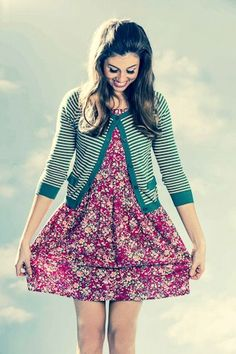 Princess Highway stripey cardy Lovely Dresses, Beautiful Outfits, Cool Outfits, Princess Highway, Dress Designs, Clothing Items, Dress Skirt, Designer Dresses, Your Style