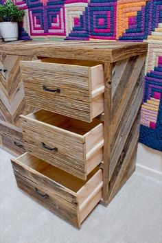 Pallet Wood Dresser With Multiple Drawers- 19 Pallet Furniture Ideas | DIY to Make