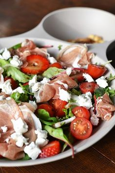 Super Healthy Sunday: Salade m. Healthy Salads, Healthy Eating, Healthy Recipes, Bbq Salads, Beef Recipes, Easy Recipes, Dinner Recipes, Salade Weight Watchers, Olive Salad