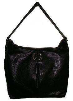 3c4d393752 Cole Haan Womens Avery Grommet II Unit Hobo Leather Handbag Large Black ***  Check