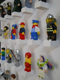Items similar to Lego mini-figure display on Etsy Lego Storage, Ikea Storage, Legos, Mini Figure Display, Boy Room, Kids Room, Kids Den, Lego Minifigure Display, Lego Bedroom