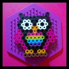 Rainbow owl perler beads by maliapix