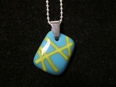 Glass Necklace Pendant  Free Shipping by EighthPlanetGlass on Etsy, $22.00