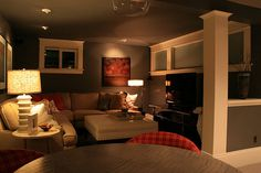 I want this cozy basement :)