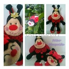 Ladybug - chaveiros Joaninha