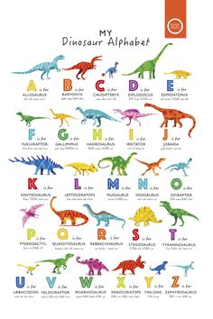 Roooaaarrrr - a new dinosaur alphabet poster in bright rainbow colors . - Roooaaarrrr – a new dinosaur alphabet poster in bright rainbow colors … – # Check more at bab - Dinosaurs Preschool, Dinosaur Activities, Toddler Activities, Dinosaur Crafts Kids, Dinosaur Projects, Dinosaur Decorations, Dinosaur Printables, Camping Activities, Preschool Worksheets