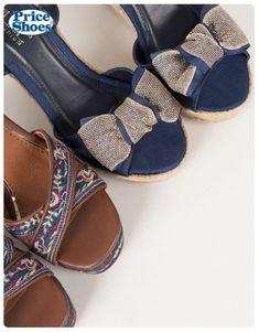 7643cd14 Sandalias con pulsera #plataformas #Sandalias2018 #bordados #moños  #modamujer #PriceShoes #casual #. Price Shoes