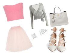 """pink"" by winfreygirl on Polyvore featuring Ballet Beautiful, Miss Selfridge, Twenty, Prada and Gianvito Rossi"
