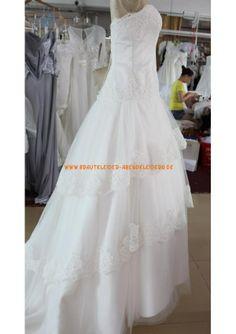 Elegante Brautkleider A-Linie 2013 aus Organza mit Spitze