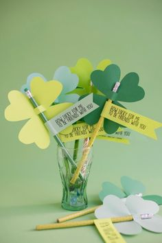St. Patrick's Day Clover Pencils DIY