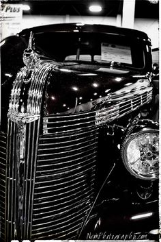 12x18 in. Poster, Vintage Black & White Pontiac, Hot Rod Garage Art Man Cave
