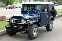 Always wanted one of these older Toyota FJ-40s.  Not enough room in the…