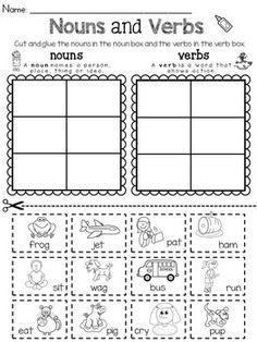 Parts of Speech Sorting Bundle by Rock Paper Scissors | TpT