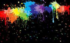 """Rainbow spatter black"" by katiedid892 on photobucket"
