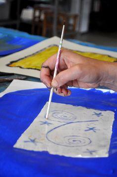 Creative Expression Workshop - Printmaking at the Tara Centre, Lancaster 2013