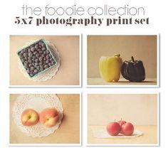 Save 20 / Food Photography Set / Four 5x7 by JillianAudreyDesigns, $48.00