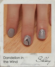 This Dandelion in the Wind is an easy nail polish art design, and definitely something cute and unique for you to stand out with. Check out the video here: http://www.youtube.com/watch?v=pW6sH3ri_X0
