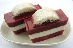 loofa set inside home made soap