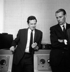 1960's. Brian Epstein and George Martin, the men behind the Beatles. #TheBeatles