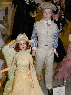 "Tonner 2013 Age of Innocence Convention The Great Gatsby event 'Jay' 17"" doll. Shown here with Zelda, but this sale is for Jay only. Price is $260 and shipping is $12 which includes insurance and delivery confirmation in the US. You can find him here. https://www.facebook.com/CatsMeowCollectibles?ref=tn_tnmn"