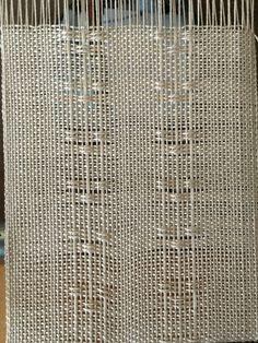 Huck lace on the loom at Klahanie Weavers