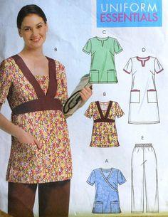 Uniform Scrubs Top, Dress and Pants Sewing Pattern