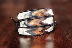 Loom Beaded Wrap Bracelet by LeiselHandmade