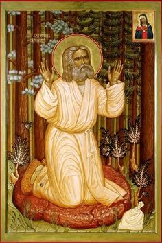 San Serafino di Sarov Church Interior, Orthodox Icons, Saints, Religion, Painting, Inspiration, Biblical Inspiration, Painting Art, Paintings