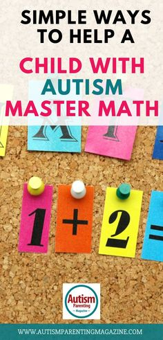 Math can be a struggle for any child, but students with autism spectrum disorder (ASD) often encounter some unique challenges where math is concerned. #autism #specialneeds #autismparenting #math #study Autism Education, Autism Parenting, Autism Resources, Children With Autism, Working With Children, Autism Spectrum Disorder Symptoms, Social Stories Autism, Individual Education Plan, Autism Books