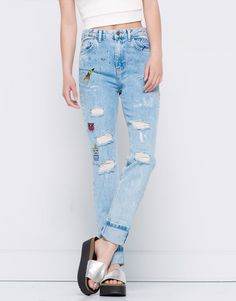 MOM FIT PATTERNED JEANS - JEANS - DENIM - PULL&BEAR Albania