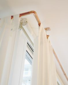 Copper curtain rods - love it!