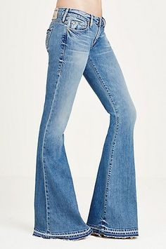 8cf543d6882 True Religion Karlie Low Rise Bell Bottom Womens Jean - ShopStyle Flare