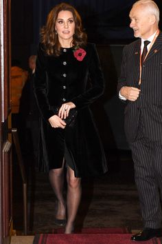 11 Nov 2017 - The Duchess of Cambridge (nee Kate Middleton) Joins Queen Elizabeth for Festival of Remembrance at Royal Albert Hall in London